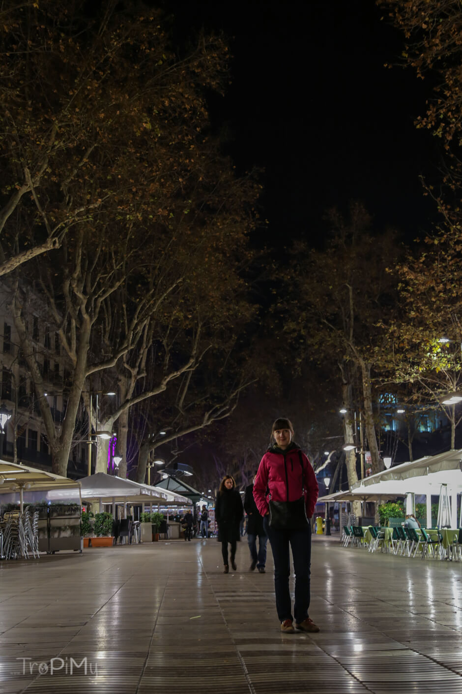 Barcelona, La Rambla by night