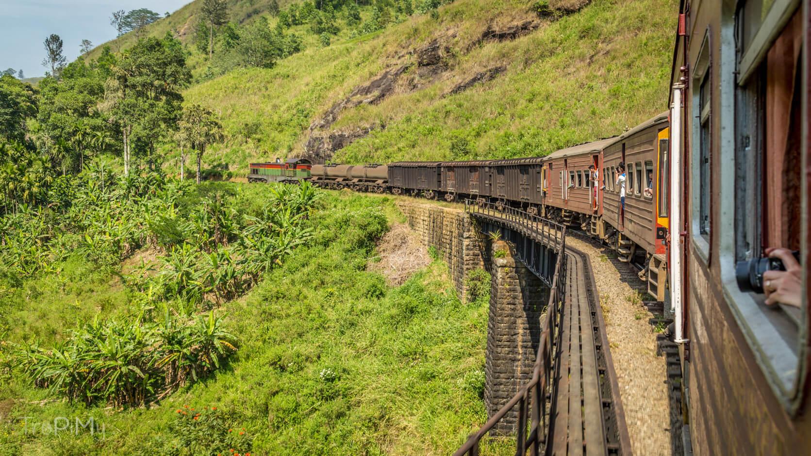 pociąg osobowy do Badulli odjedzie z Ella z toru pierwszego przy peronie pierwszym
