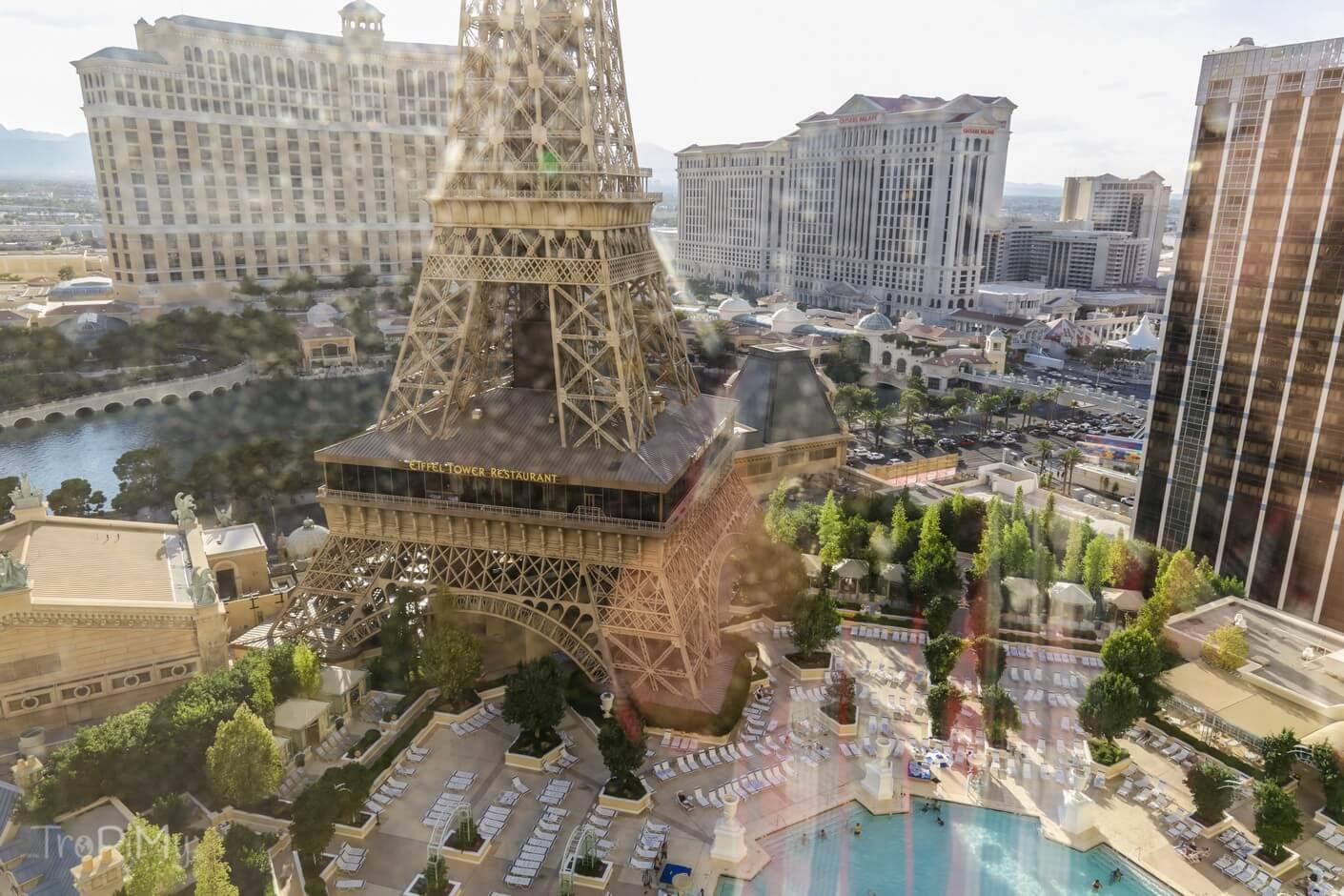 Paris Las Vegas - widok z okna