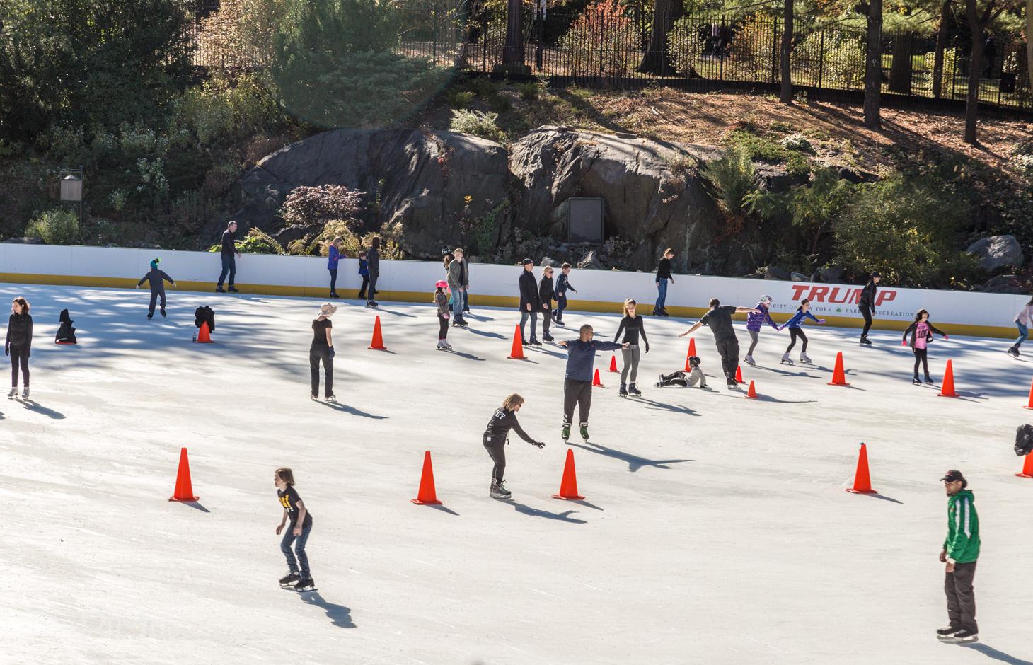 lodowisko w central parku