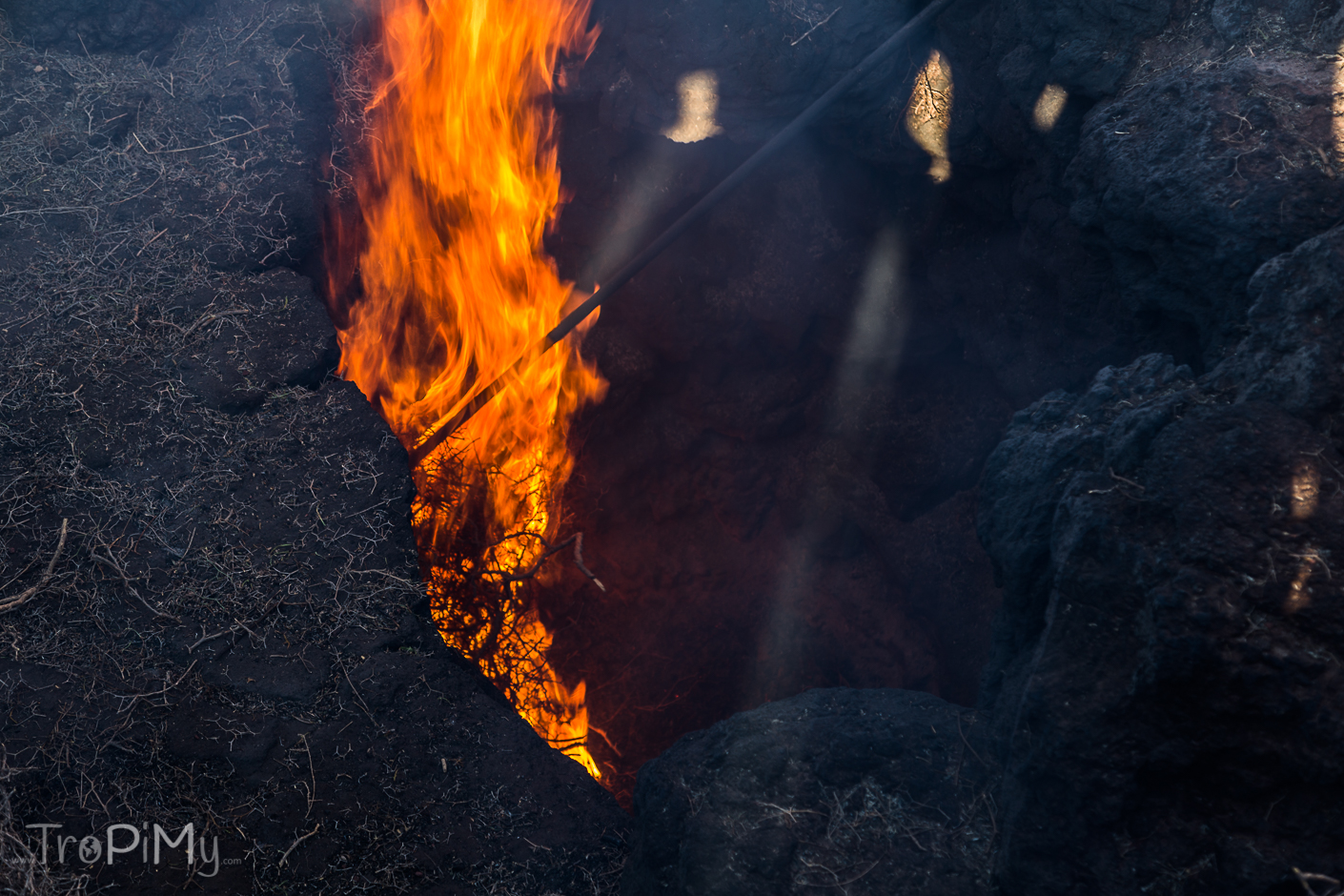 Park Narodowy Timanfaya na Lanzarote - temperatura tuż pod powierzchnią ziemi